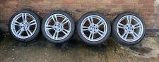 Genuine OEM BMW 400m Style 18 Alloy Wheels Tyres E87 E90 E91 F36 F30 Staggered