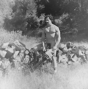 Vintage Photo Negative Beefcake Man Muscles Gay Interest