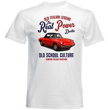 VINTAGE ITALIAN CAR ALFA ROMEO DUETTO - NEW COTTON T-SHIRT