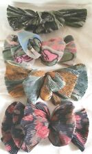 4 Ladies or Childrens Hair Bows Pleated Dark Fall Colors One Lighter