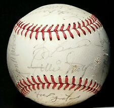 1973 WORLD SERIES New York Mets Team Signed BASEBALL hof onl auto WILLIE MAYS