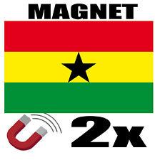 2 x GHANA Drapeau Magnet 6x3 cm Aimant déco GHANA magnétique frigo