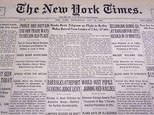 1931 MAY 13 NEW YORK TIMES - FRANK HAWKS BEATS TELEGRAM - NT 4144