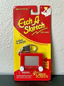 Etch A Sketch Keychain Toy Classic Retro Mini Shake Erase