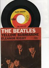 THE BEATLES   YELLOW SUBMARINE   / ELEANOR RIGBY PICTURE SLEEVE   & 45