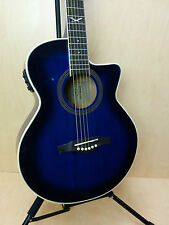 EKO NXT 018 CW EQ BLS Cutaway Electro-Acoustic Guitar,Blue Sunburst+Free gig bag