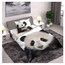 Panda parure de lit housse de couette 140x200 + Taie 70x90 100% Coton Panda Ours