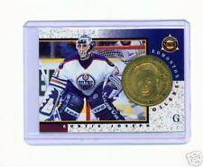 1997-98 PINNACLE MINT CURTIS JOSEPH BRASS COIN & CARD
