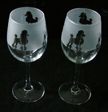 More details for poodle dog wine glasses classic tulip shape..boxed