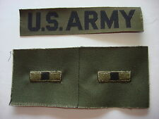 Pocket Tape U.S. ARMY + Pair Of WARRANT OFFICER 1 Uncut Collar Patches