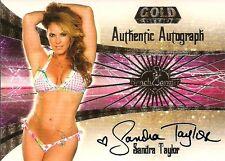 2007 BENCHWARMER GOLD - SANDRA TAYLOR - AUTOGRAPH CARD