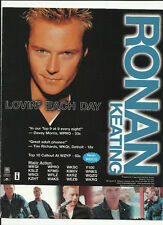 Boyzone RONAN KEATING Lovin Each day TRADE AD POSTER for Destination 2001 CD