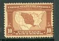 USA 1904 Louisiana Purchase 10¢ Brown Scott 327 Mint Hinged L137