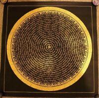 HandPainted Tibetan Compassion Mantra Mandala thangka Painting Meditation