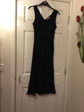 Full Length Polyester Patternless Tunic Dresses for Women