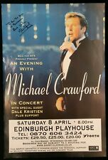 Michael Crawford Signed Poster Edinburgh Playhouse 2000
