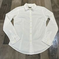Banana Republic Professional White Dress Work Shirt Long Sleeve Womens Size 4P