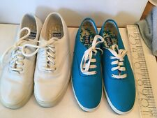 Keds Womens Shoes Color Blue 7.5 Canvas And white Size 7 Lace Up