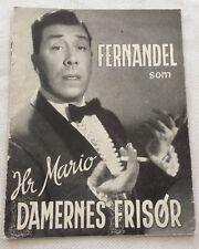 Coiffeur pour dames Fernandel Renée Devillers Poirier 1952 Danish Movie Program