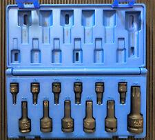 Grey Pneumatic 1234t 12 Piece Torx Impact Driver Socket Set T10 To T60