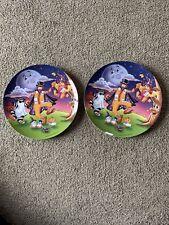 Mcdonalds Halloween Plate 1997 Set Of Two