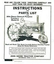 John Deere B General Purp. Operators Instruction Manual