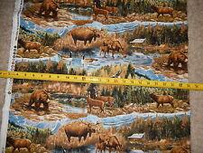 Scenic Woods Wildlife Deer Moose Goose Bear 10085 Print Concepts cotton fabric