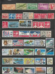 53 Used U.S. Air Mail Stamps