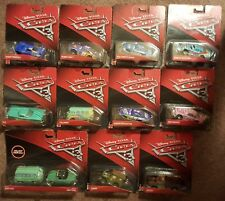Disney Cars 3 collectible die cast vehicle lot of 12 with HTF rare exclusives