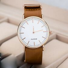 Fashion Casual Watches Men's Women's Leather Stainless Steel Quartz Wrist Watch