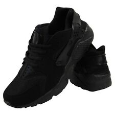 UK Shoes - MENS RUNNING FITNESS GYM SPORT HUARACHES BOY INSPIRED CASUAL LADIES TRAINER SHOE Black G