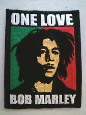 "(C35) BOB MARLEY ONE LOVE 2.5"" x 2"" iron on patch"