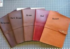 Leather Portfolio (dark brown)handmade in my studio