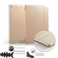 Gold Magnetic Leather Cover With Hard Back Case Smart Wake For iPad2/3/4 + Gift