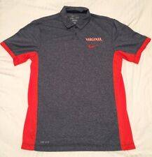 Nike Dri-Fit Virginia Cavaliers UVA Orange Gray Polo Shirt Mens Small
