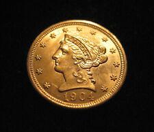 "MDS USA 2½ DOLLARS 1904 ""CORONET HEAD"", GOLD"