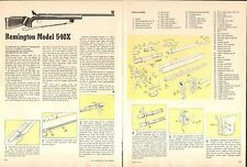 1976 2 Page Print Article of Remington Model 540X Rifle Parts List & Disassembly