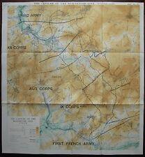 1918 WW1 WWI MAP CAPTURE of BEAUREVOIR LINE AUSTRALIAN CORPS + XIII & IX Oct 3-5
