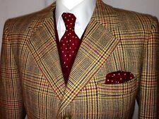 Vintage Mens BURBERRY Tweed Glen Check Plaid Suit Jacket Blazer Harris Style 44s