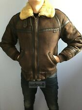 SALE-30%OFF Schott Men's B-6 Flight bomber leather shearling jacket coat vintage