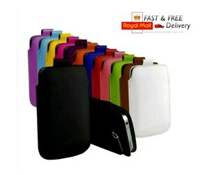 NEW Pull Tabs Faux Leather Protective Pouch Skin Case Slip In Cover Phone Case