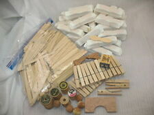 Mixed Lot Wooden POPSCICLE STICKS, ICE CREAM SPOONS, CLOTHES PINS & MORE CRAFTS