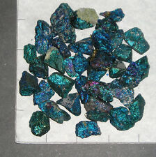 "CHALCOPYRITE Peacock Ore Chunks 1/2-1"" 1/2 lb bulk stones rough blue gold pink"