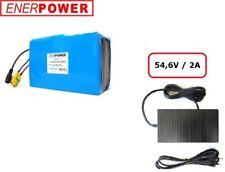 ENERpower Softpack Battery Li-Ion 48V 26J 15,6Ah 13x6 eBike DC+ Charger 2A