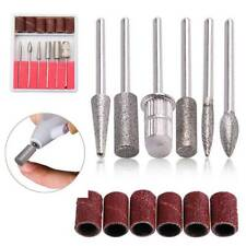 6Pcs Nail Art Electric Drill Bits File Kit Manicure Machine Grinding Heads Tools