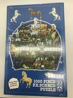 FX Schmid Puzzle Horsing Around Horses Equestrian Neecy Twinem 1000 Piece NEW