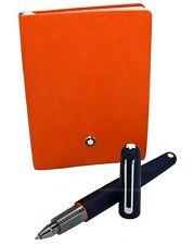 NEW Montblanc M Ultra Black Ballpoint Pen and Notebook #145 Orange Set 117085