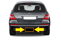 New Genuine MERCEDES BENZ MB R CLASS W251 Facelift Rear Bumper Tow Bar Cover OEM