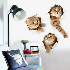 3D Animal Pet Cats Room Home Decor Removable Wall Stickers Decals Decoration