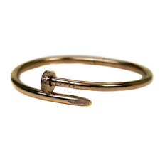 Naomi Rose Gold Plated Crystal Set Nail Bangle Bracelet by Infinity & Co